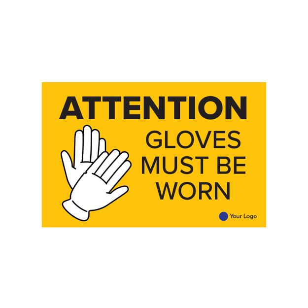 Picture of COVID-19 Construction Site Safety Poster Gloves Must Be Worn