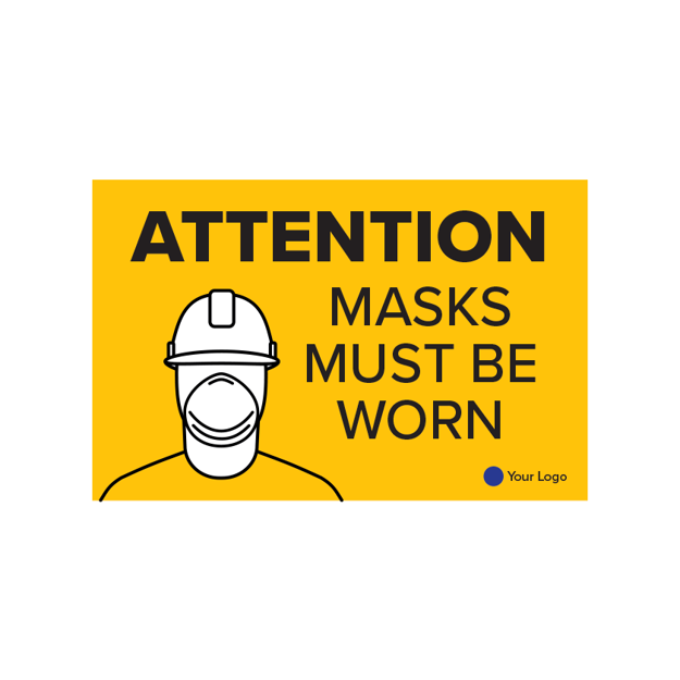 Picture of COVID-19 Construction Site Safety Poster Masks Must Be Worn