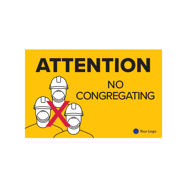 Picture of COVID-19 Construction Site Safety Poster No Congregating