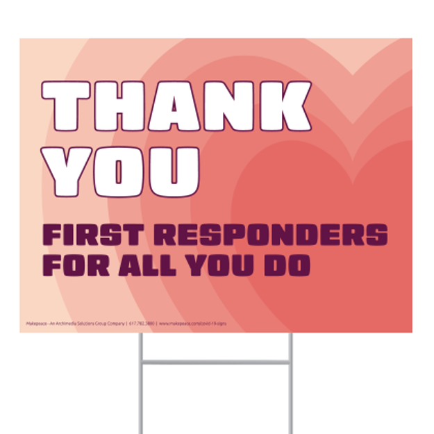 Picture of Covid-19 Thank You First Responders Lawn Sign